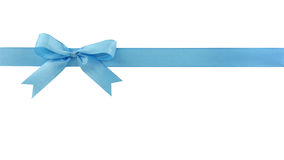 blå bow Royaltyfri Fotografi