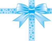 Blå bowknot Fotografering för Bildbyråer