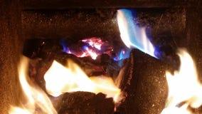 blå brand Arkivbilder