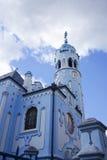 blå bratislava kyrka Fotografering för Bildbyråer