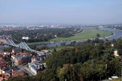 Blå bro Dresden fotografering för bildbyråer
