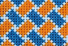 blå broderiyellow royaltyfri fotografi