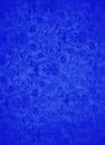 Blå brokadbladbakgrund Arkivbild