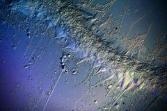 Blå bruten förkylning bakgrunden Arkivfoto