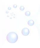 blå bubblacirkelsphere fotografering för bildbyråer
