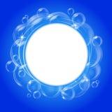 blå bubblavektor för bakgrund Arkivbild