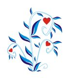 blå buske vektor illustrationer
