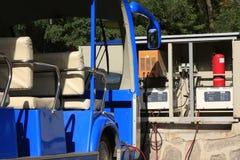 blå buss Arkivbilder