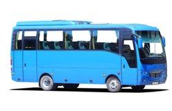 blå buss Royaltyfri Bild
