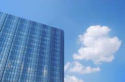 Blå byggnad Arkivbilder