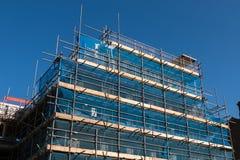 Blå byggnadskonstruktion Arkivbild
