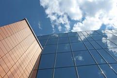 blå byggnadskontorssky Royaltyfri Fotografi