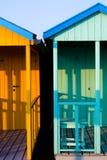 blå cabina Arkivbilder