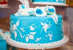 blå cake Royaltyfri Fotografi