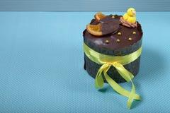 blå cake easter för bakgrund Arkivfoton