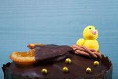 blå cake easter för bakgrund Arkivfoto