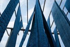 blå calico Arkivfoto