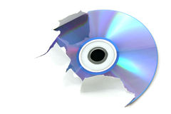 blå cd Royaltyfri Foto