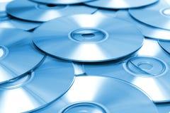 blå cd för bakgrund Arkivfoton