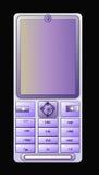 blå cell- ljus telefon arkivfoto