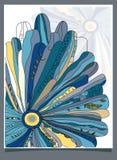 blå chamomile stock illustrationer