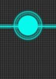 Blå cirkelbakgrund för affär Royaltyfri Bild