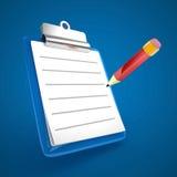 blå clipboard Royaltyfri Fotografi