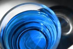 blå coctail royaltyfri foto