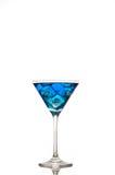 blå coctail Royaltyfri Fotografi