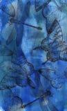 blå collage Arkivfoto