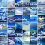 blå collage royaltyfri fotografi