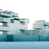 blå constructivism royaltyfri illustrationer