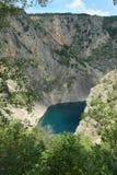 blå croatia imotskilake Royaltyfria Foton