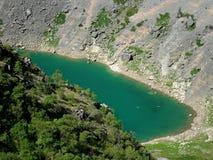 blå croatia lake Arkivfoton