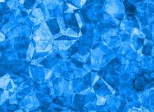 Blå crystal bakgrundstextur för lättnad Arkivbild