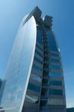blå crystal skyskrapa Arkivbild