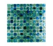 blå crystal tegelplattavägg Arkivfoto