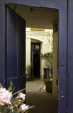 blå dörröppning Royaltyfria Bilder