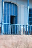 blå dörröppning Fotografering för Bildbyråer