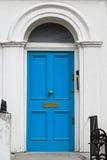 Blå dörr Royaltyfria Foton