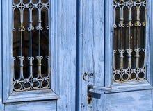blå dörr Royaltyfria Bilder
