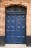 blå dörr fotografering för bildbyråer
