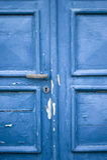 blå dörrromantiker Royaltyfri Fotografi