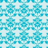 blå damastast wallpaper Stock Illustrationer