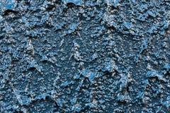 Blå dammbyggnad för chips för Grey Painted Background Abstract Stone väggzoom Fotografering för Bildbyråer