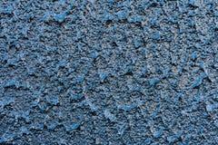 Blå dammbyggnad för chips för Grey Painted Background Abstract Stone väggzoom Royaltyfria Bilder