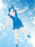 blå danssky Arkivfoto