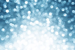 Blå defocused lampabakgrund Arkivbild