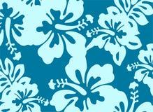 Blå dekorativ blom- modell Royaltyfria Foton