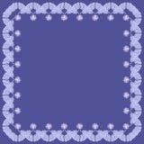 blå dekorativ elementram för bakgrund Royaltyfri Foto